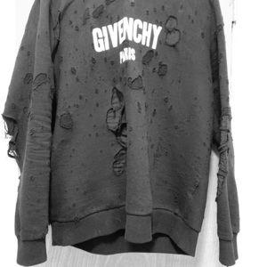 bf8b5670 Givenchy Paris Destroyed Hoodie Men's Large